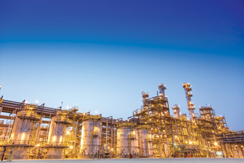 The amines plant at Sadara, a mega venture between Saudi Aramco and The Dow Chemical Company.