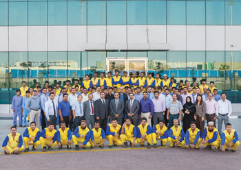 Leminar's team at its facilities in the UAE.
