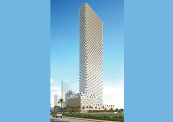 CTI to install a curtain-wall facade for Sail Tower.