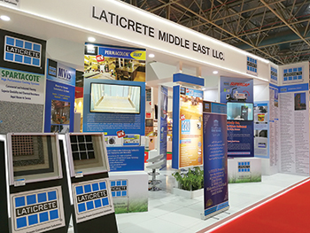 Laticrete Middle East ... creating product awareness.
