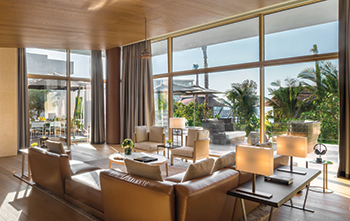 The 540-sq-m Bulgari Villa ... features a large living area.