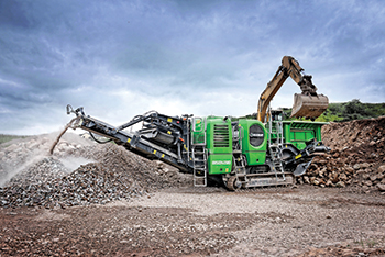 The EvoQuip Bison 280 ... at a granite site in Ireland.