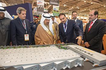 Bahrain's Premier HRH Prince Khalifa bin Salman Al Khalifa seen at Majaal's stand last year.