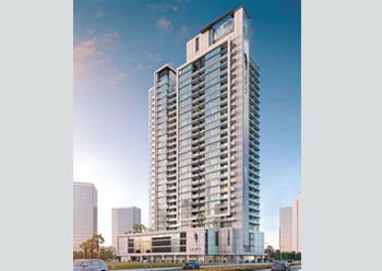 Symphony at Business Bay ... will house 455 residential apartments.