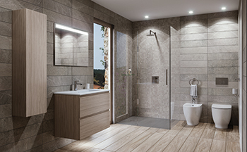 Lighting plays an important role in personalising bathroom spaces.