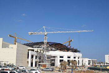 The Oman Convention and Exhibition Centre ... second phase under way.