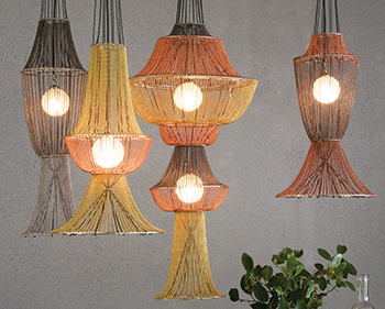 Moroccan-style lamps ... from the Small Space collection.