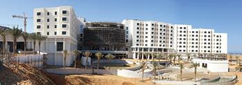 The JW Marriott Hotel ... work under way.