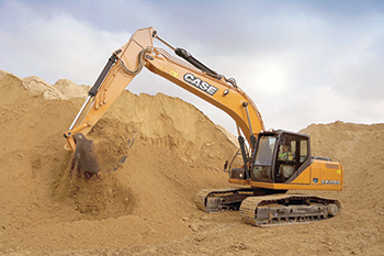 Case CX210B ... best-selling model in the 20-tonne class.  INSET: Invernizzi.