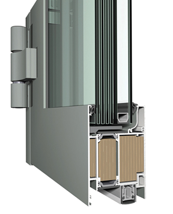 The CS 77-FP EI60 and EI30 (right) profiles ... offer fire resistance for 60 and 30 minutes respectively.