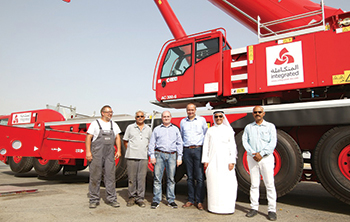 ILC takes delivery of the Demag AC 300-6 cranes.