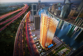 Millennium Binghatti Residences ... being built in Business Bay.