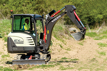 The EX2 prototype ... believed to be the world's first fully-electric compact excavator.