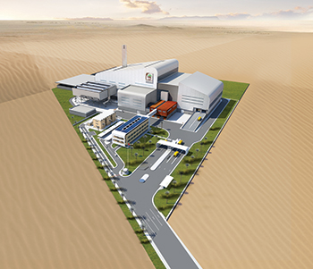 A rendition of the thermal waste recycling plant in Dubai.