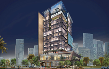 An artist's impression of the CMC commercial tower in Riyadh.