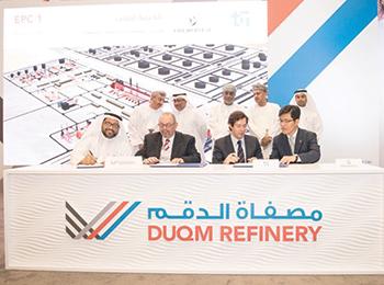 Saipem signs the $750-million Duqm Refinery deal.
