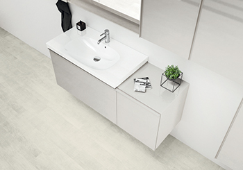 Floating shelves from the Acanto bathroom series ... also a stand-alone solution.