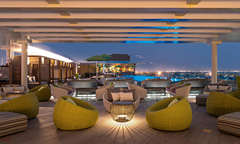 The Rooftop ... designed to transition from a relaxed vibe by day to an exciting atmosphere by night.