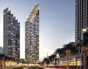 The Boulevard Heights in downtown Dubai ... Reynaers to fit  CW 86-MF and MasterLine 8 systems.