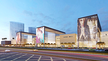 A rendition of Nakheel's Deira Mall ... a Dh4.2-billion construction contract was signed last month.
