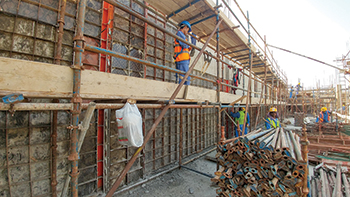 Substation at Deira Islands ... Paschal formwork was used for verticals.