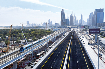 One of two major bridges opened at Sheikh Rashid-Sheikh Khalifa bin Zayed Streets junction in February.