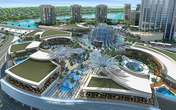Nakheel Mall ... 25-m-high crystal dome sits at its centre.