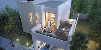 The Sama Majlis Villa in Sharjah ... the terrace has an open-air majlis.