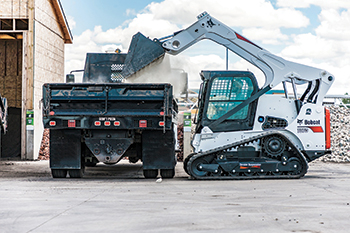 The T870 compact tracked loader featuring a new torsion suspension undercarriage.