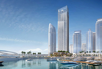 The Grand is an 'ultra-luxe' residential address at Dubai Creek Harbour.
