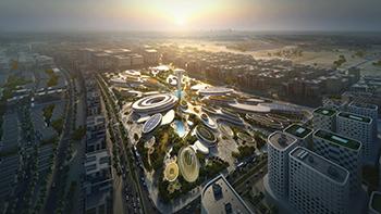 The Central Hub at Aljada will be designed by Zaha Hadid Architects.