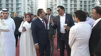 Rahman and Sajan at Glitz 3 completion event.