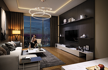 An Azizi Riviera show apartment ... designed by Mon Palais.