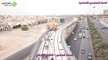 Work on the Riyadh Metro is more than two-thirds complete.