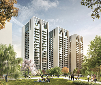 The Mont Rose ... handover of the residential towers under way.