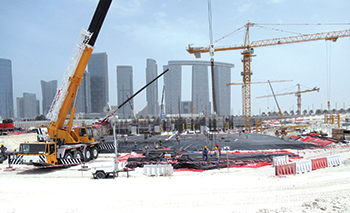 Reem Mall work site ... several concrete pours completed.