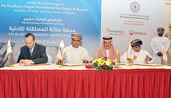 OPWP and Acwa Power sign an agreement to develop the first IWP in Dhofar.
