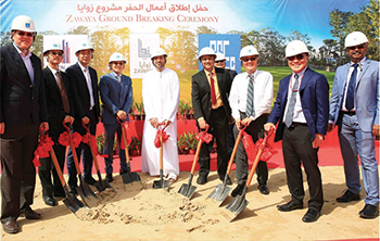 Officials of Union Properties and CSCEC at the ground-breaking.