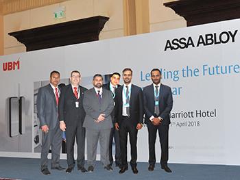 Assa Abloy and UBM officials at the seminar.