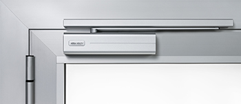 The new door closer ... suited to modern design.