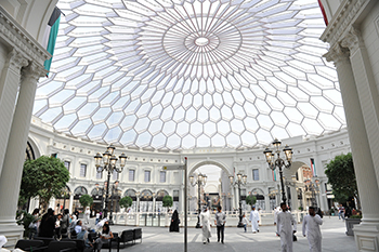 The Forum ... set underneath a mega dome.