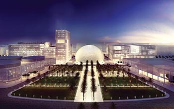 Architectural icon ... the new grand administration facilities spread over 55,085 sq m.