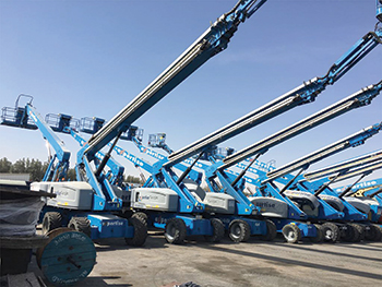 Expertise took delivery of 37 Genie telescopic boom lifts earlier this year.