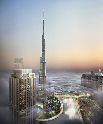 Grande offers direct views of Burj Khalifa.