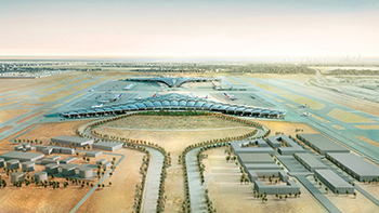 Kuwait International Airport ... a new passenger terminal is under construction with a capacity to handle 25 million passengers.
