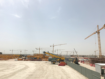 Limak Insaat is using 26 Potain tower cranes supplied by NFT to help construct Kuwait airport's new passenger terminal.