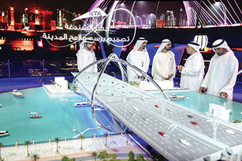 The Shindagha Bridge project ... HH Sheikh Mohammed launches construction.