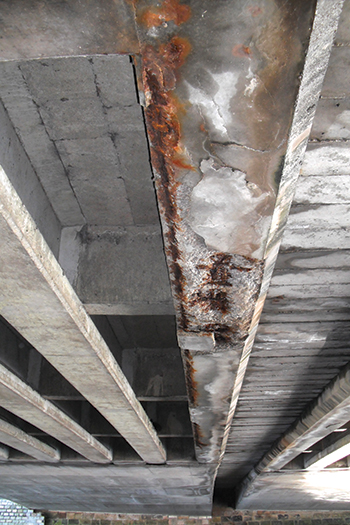 Chloride-affected concrete  ... a typical application for Cementitious Coating 851.