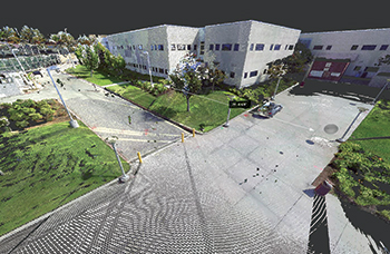 3D Point Cloud model of the existing site after registration, or stitching together, of the individual laser scans.