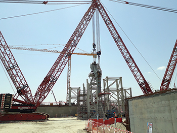 Mammoet is deploying nine crawler cranes to complete the terminal project.
